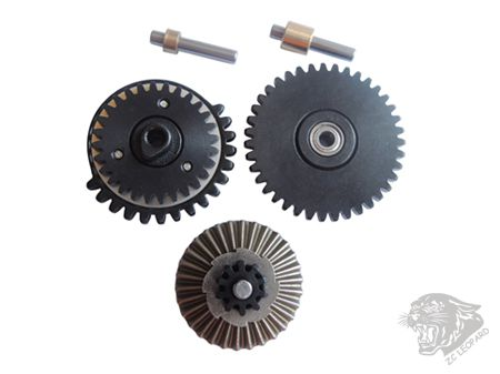 All parts view of  3mm Steel CNC Bearing Gear Set 13:1