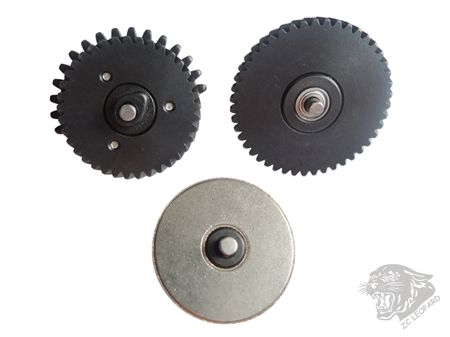 The back view of 3mm Steel CNC Bearing Gear Set 100:200