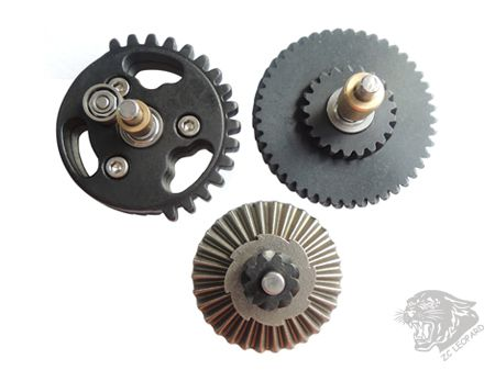 Positive view of 3mm Steel CNC Bearing Gear Set 100:300