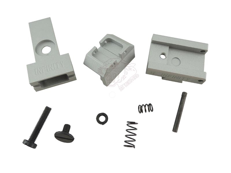 The parts for Silver Rear Sight for Tokyo Marui Hi-Capa 5.1 Series